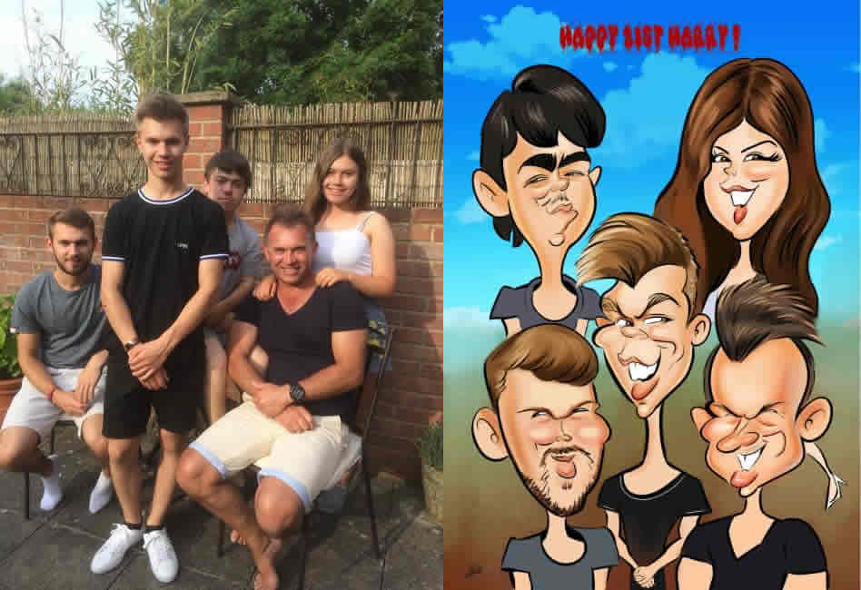 Birthday Card Caricature