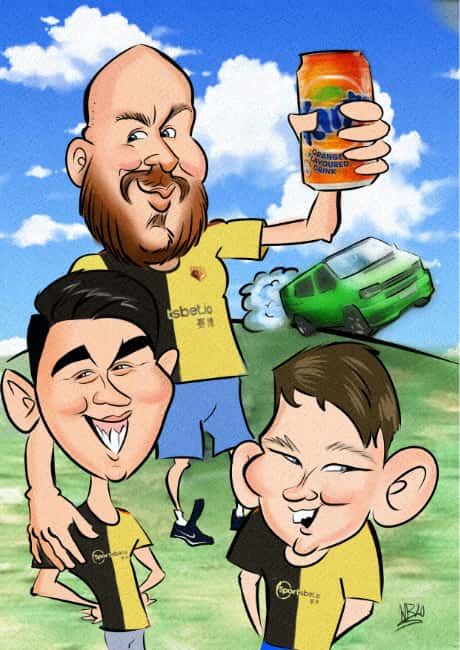 Family Portrait Caricature