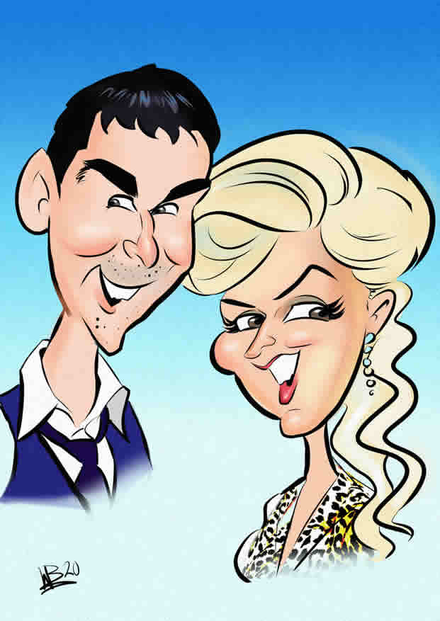 Couple Portrait Caricature